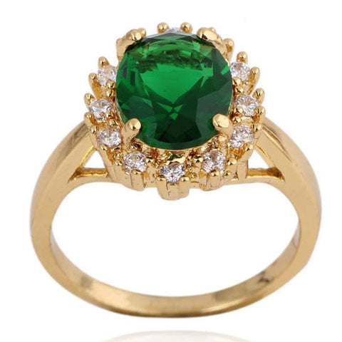 Green Zircon  Rings