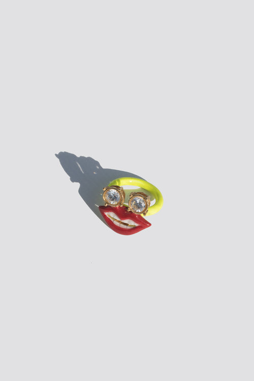 Smiley Lip Neon Ring - Lulu Be Mine