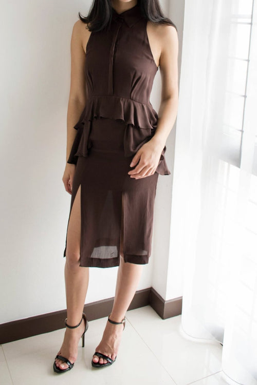 Kaolin Dress (Brown) - Lulu Be Mine