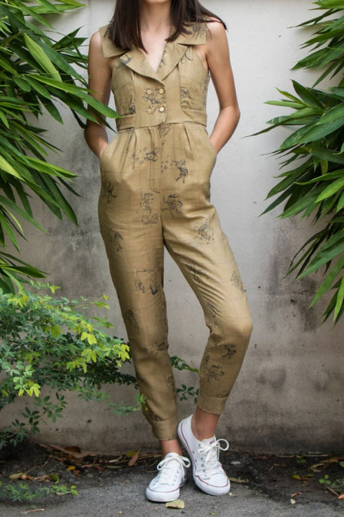 Sagittarius Jumpsuit (Pirate Khaki) - Lulu Be Mine