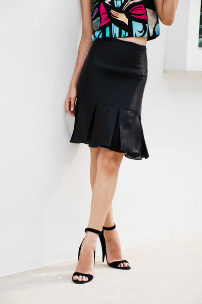 Cecile Box Pleat Midi Skirt - Lulu Be Mine