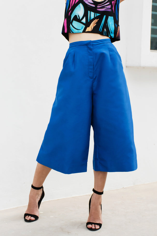 Culottes (Blue) - Lulu Be Mine