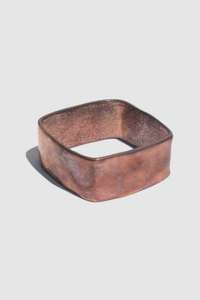 Hammered Square Bangle (Rose Gold) - Lulu Be Mine
