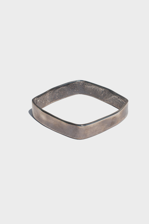 Small Hammered Square Bangle - Lulu Be Mine