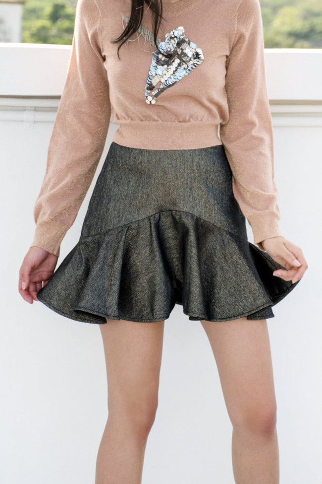 Stardust Ruffle Skirt - Lulu Be Mine