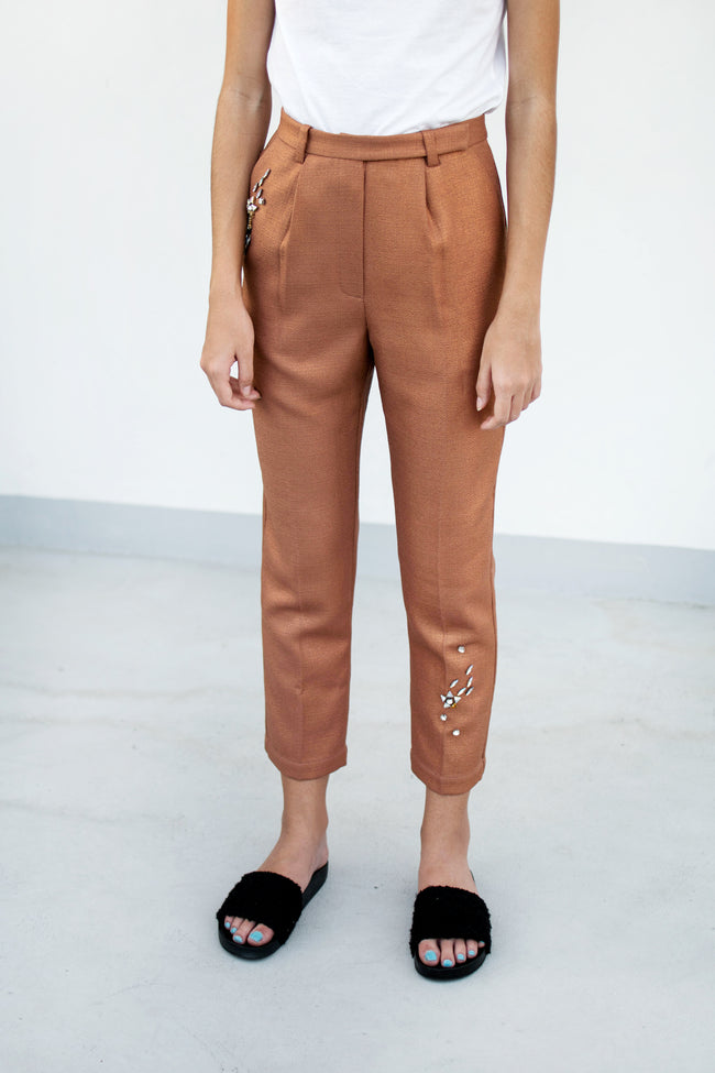 Milky Way Pants (Pink Gold) - Lulu Be Mine
