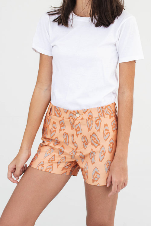 Skater Shorts (Orange) - Lulu Be Mine