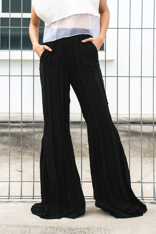 Night Fever Flare High-Waisted Pants - Lulu Be Mine