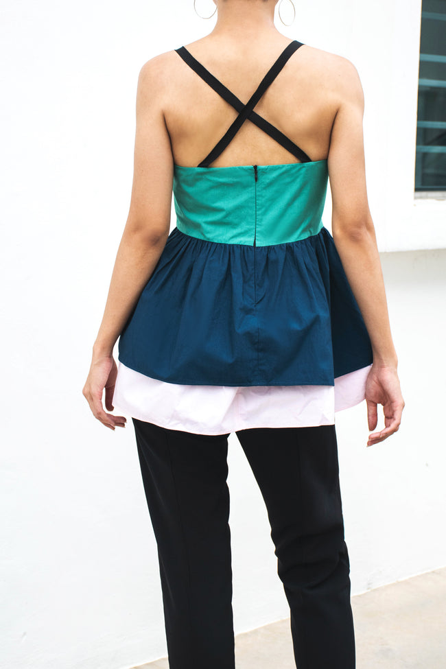 Double Layer Strappy Full Top - Lulu Be Mine