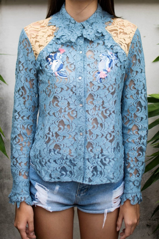 Tropical Lace Shirt - Lulu Be Mine