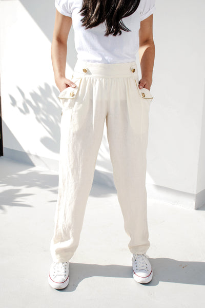 Another Place Pants (White) - Lulu Be Mine