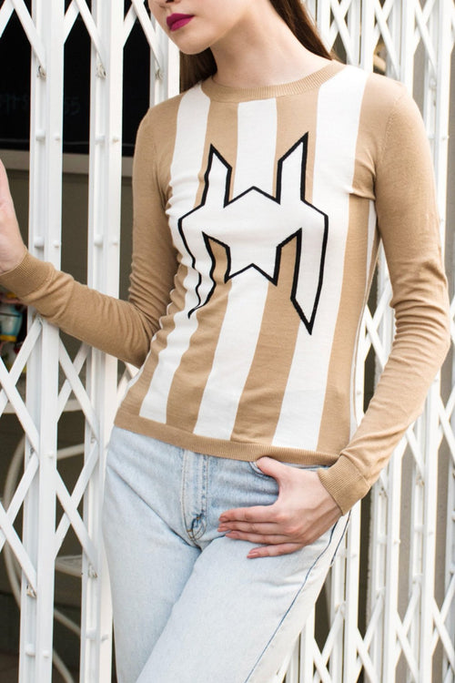 L/S Graphic Knit Top - Lulu Be Mine