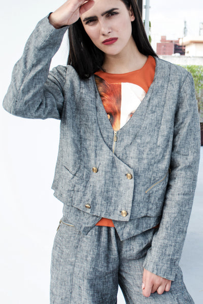 Now More Than Ever Jacket (Grey) - Lulu Be Mine