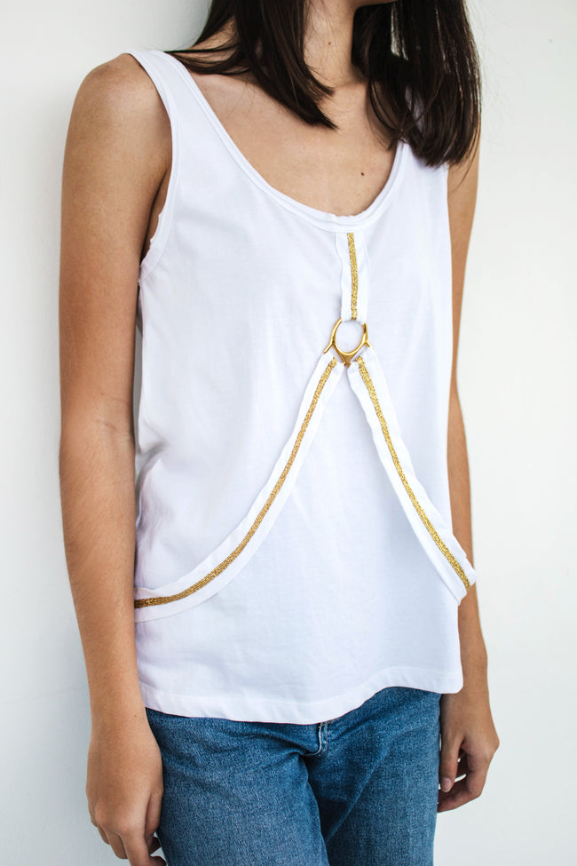 Stirrup Tank (White) - Lulu Be Mine
