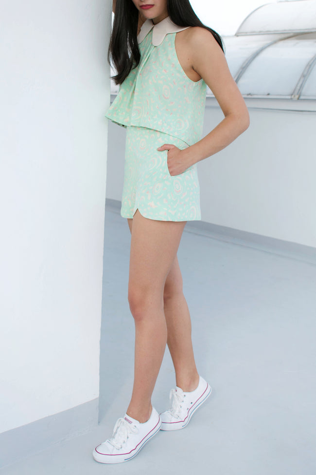 Wing Shorts (Green Wings) - Lulu Be Mine