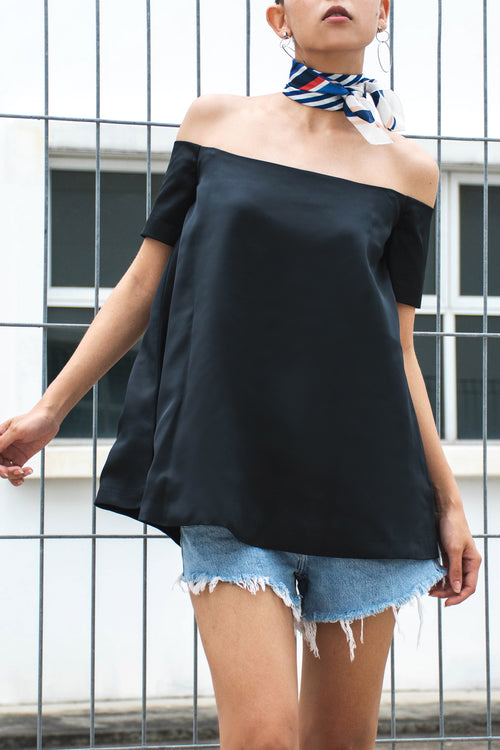 Trapeze Off Shoulder Top - Lulu Be Mine