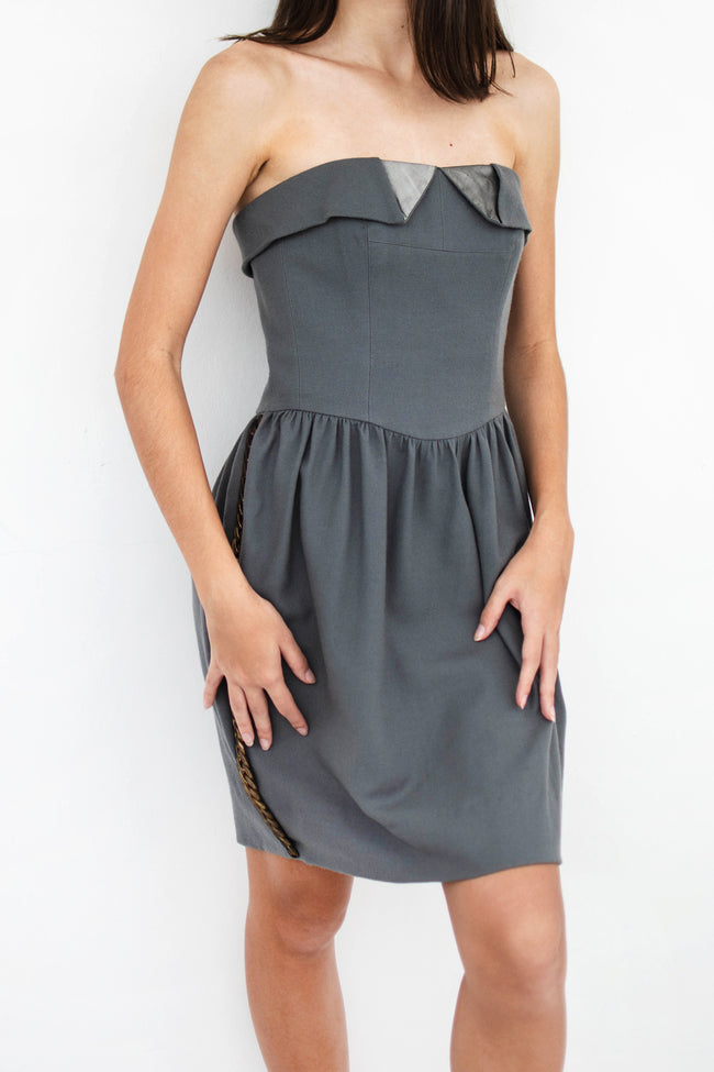 Tuxedo Bustier Dress - Lulu Be Mine