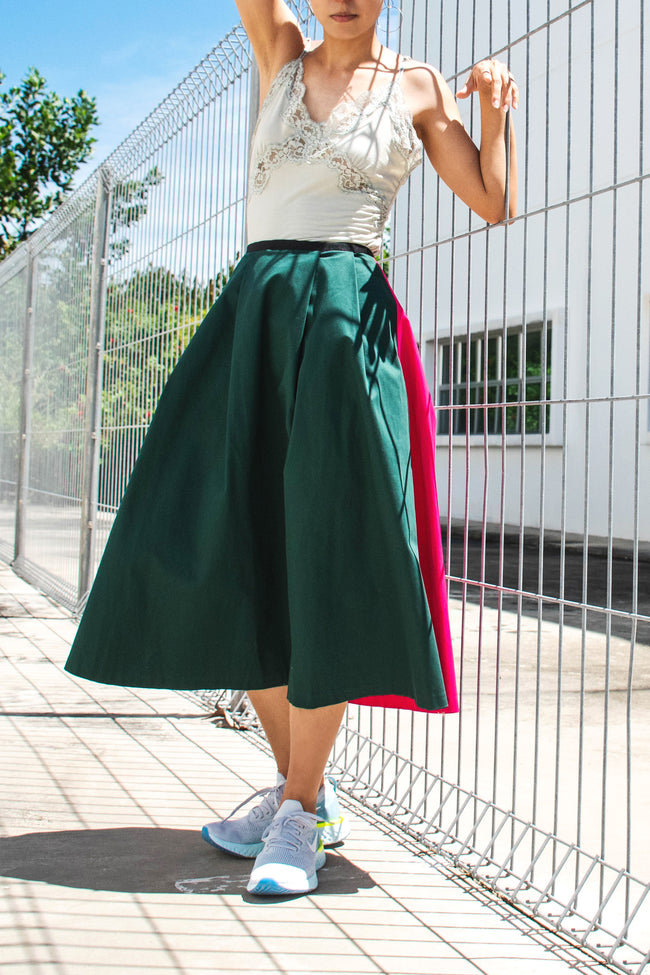 Two Tone Midi Skirt - Lulu Be Mine