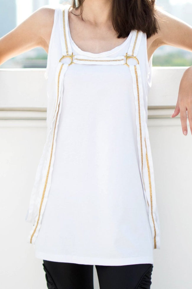 Stirrup Singlet (White) - Lulu Be Mine