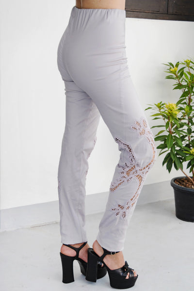 For The Roses Pants (Dove) - Lulu Be Mine