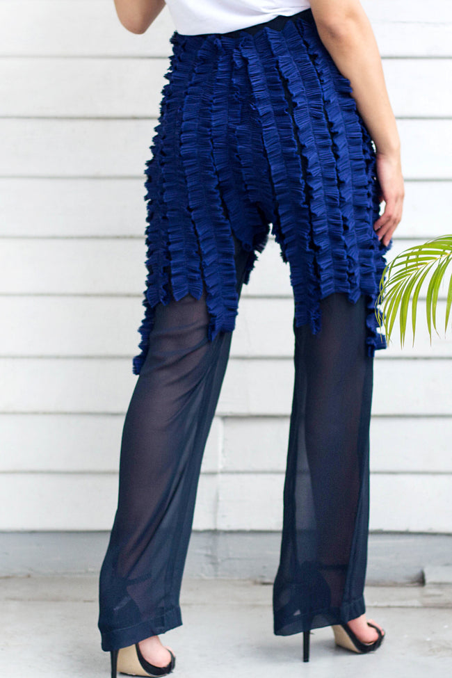 Massive Blue Ruffle Pants - Lulu Be Mine