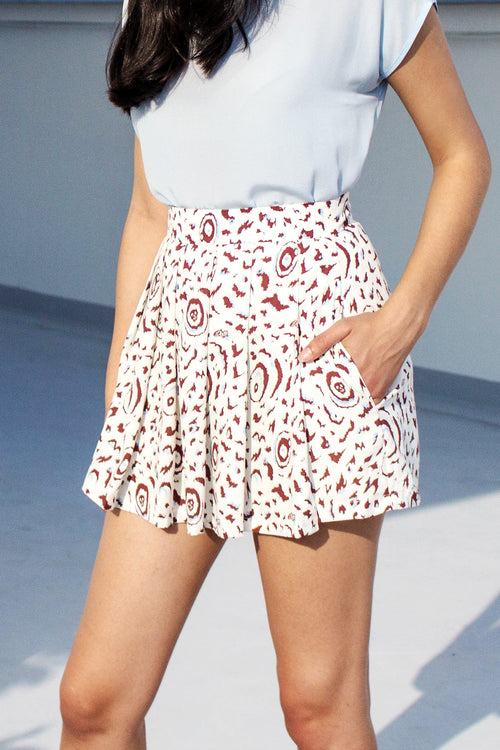 Butterfly Pleated Shorts - Lulu Be Mine