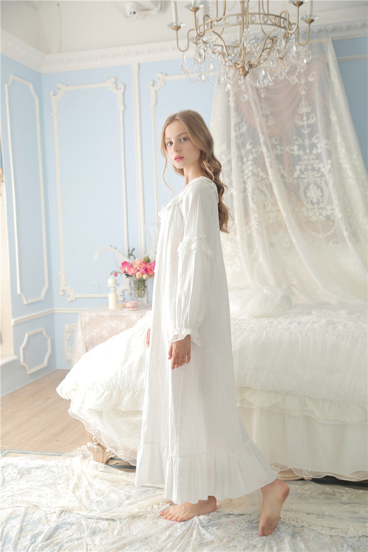 Princessy Heart 100% Cotton Lace Quality Royal Vintage Night Gown ...