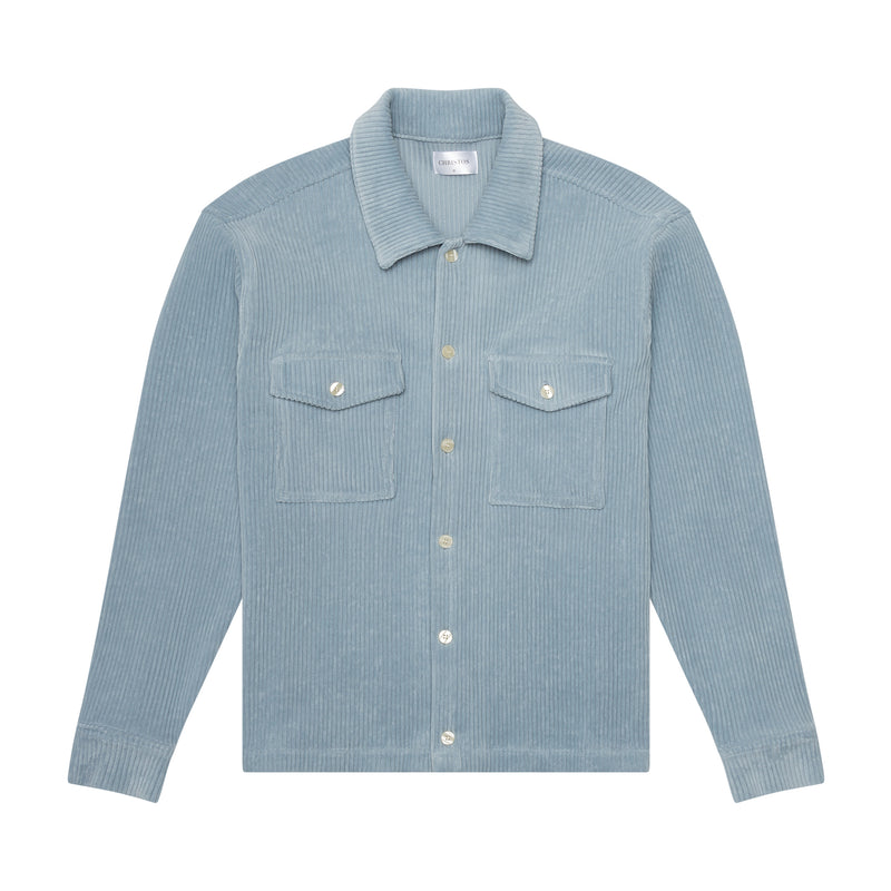 THE LUXE WORK SHIRT - SKY