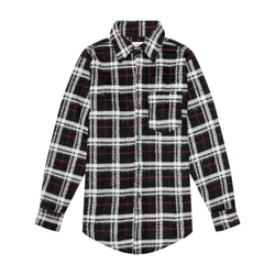 THE MOHAIR SHIRT - BLACK/RED