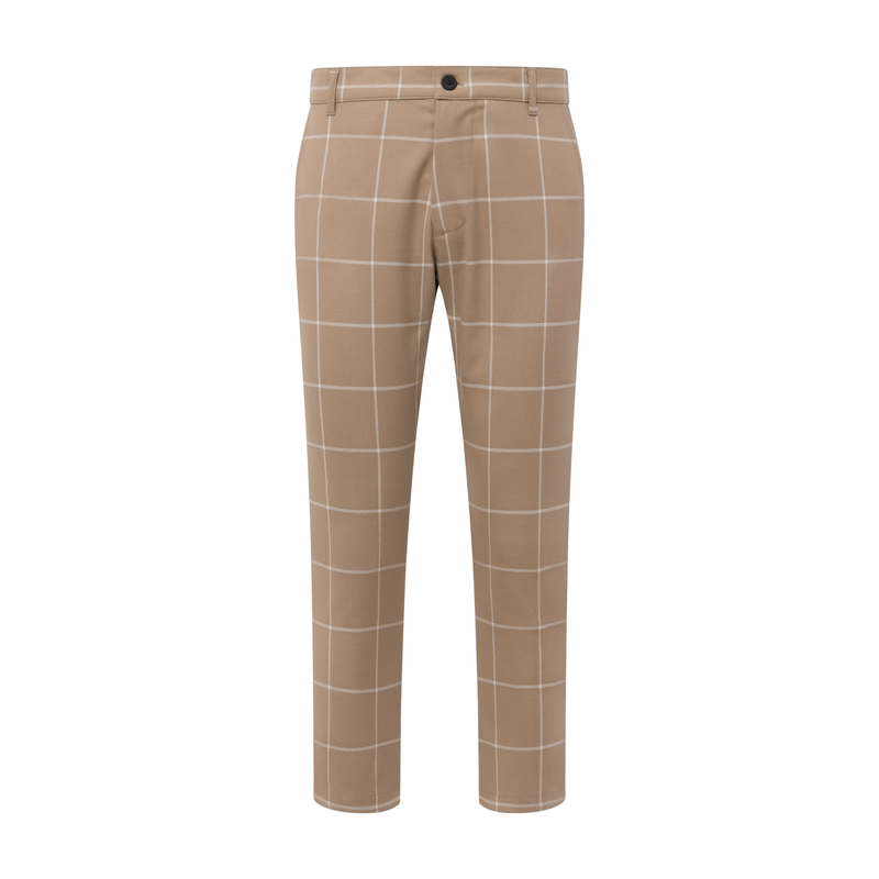 THE GRID TROUSER - BUFF