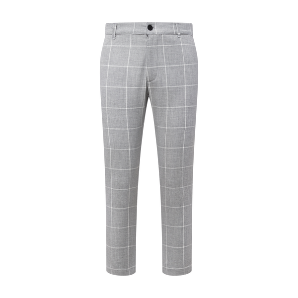 THE GRID TROUSER -  SMOKE