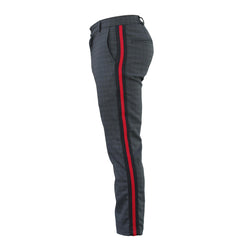 THE CARTER TROUSERS - BLACK/RED