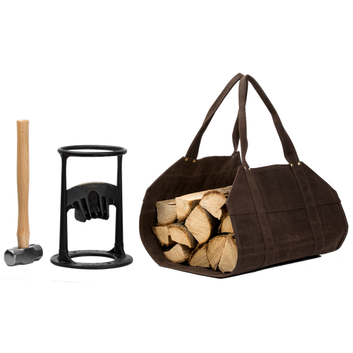 Kindling Cracker with Hammer and Haul Bag
