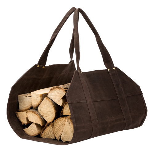 Waxed Canvas Firewood Haul Bag