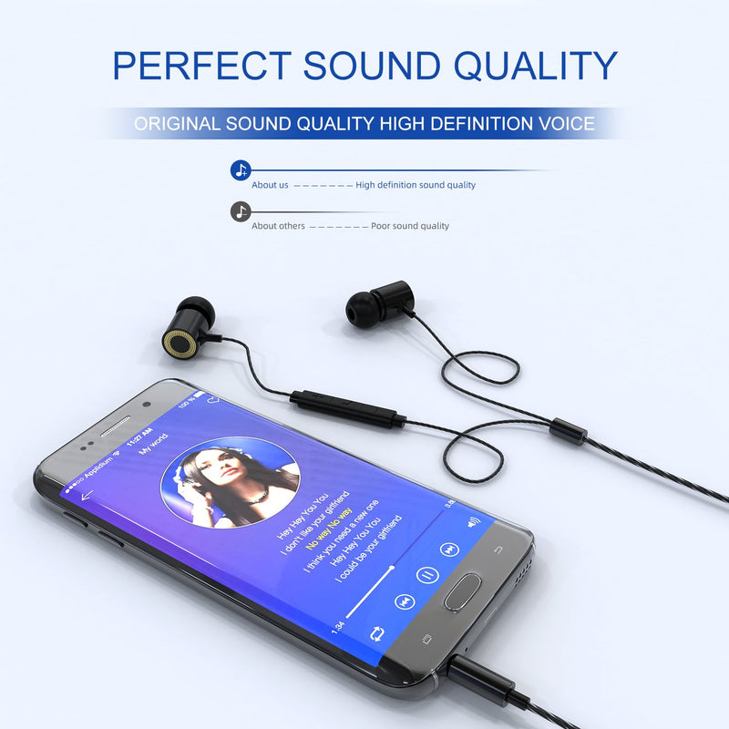 Deep bass HD sound Metal Earphones with Mic and Volume Control