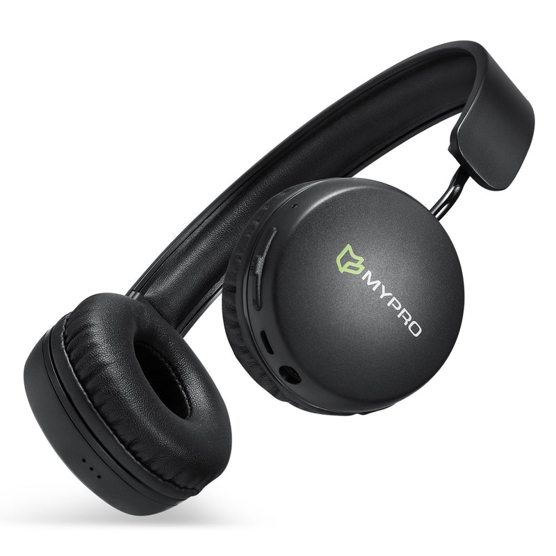 Mypro H2 Wireless & Wired Bluetooth Over Ear Lightweight Comfortable Stereo Headphones with Mic