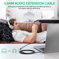 3.5mm Male to Female Extension Stereo Audio Extension Cable