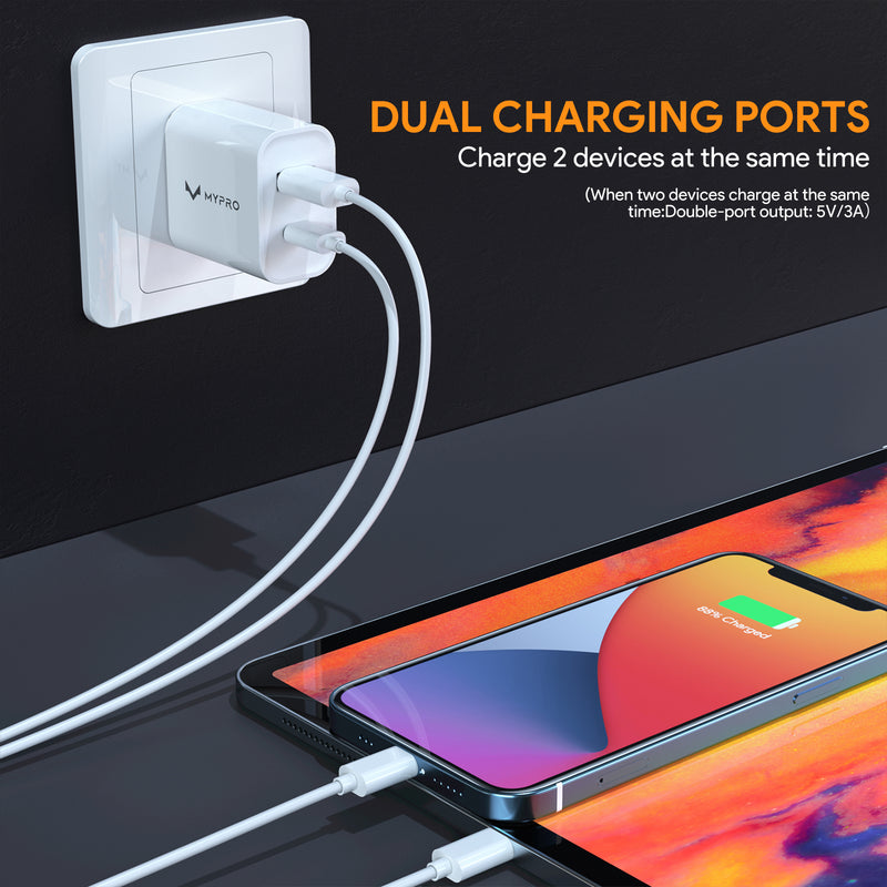 20W 2 Port PD & QC 3.0 Wall Charger