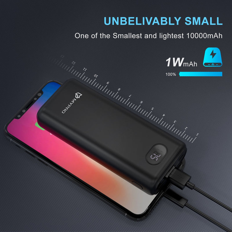 Mypro X1 Ultra-Small 10000mAh Powerbank With LCD Power Display and 3 input