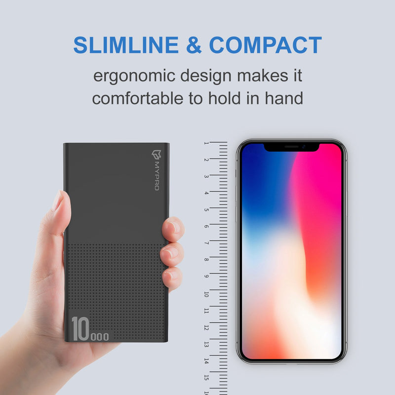 E2 Slim 10000mAh Powerbank With 2 Usb Output 2.1A Fast Charge