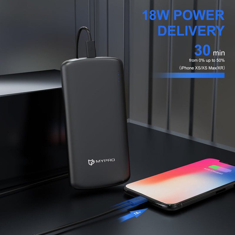 E3 18W Quick charge + Power Delivery 10000 mAh Powerbank