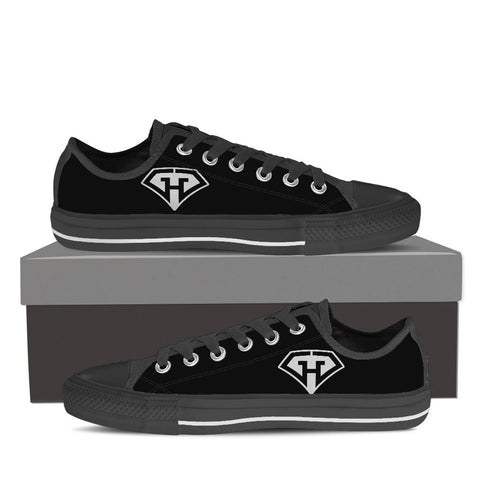 GeekHeroes Low Top Black Canvas Shoes - Men's