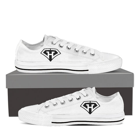 GeekHeroes Low Top White Canvas Shoes