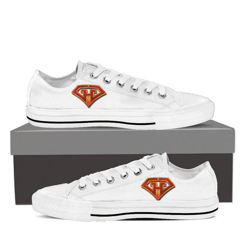 GeekHeroes Low Top White Canvas Shoes - Men's