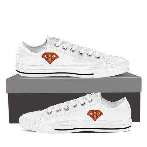 GeekHeroes Low Top White Canvas Shoes - Women's