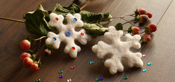 Simply way to make prefect felted snowflakes