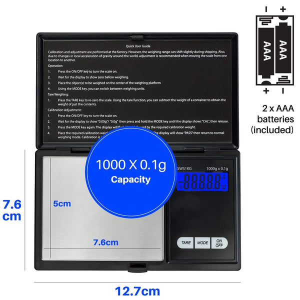 smart weight digital weed scale