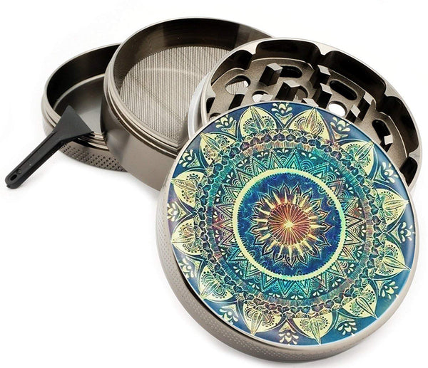 Blue Mandala Grinder for Weed and Herbs, Tobacco, Kief, Pot
