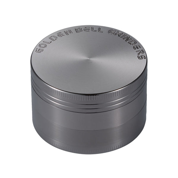 Golden Bell Weed Herb Grinder Marijuana - Nickel Black