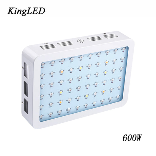 KingLED 600W Double Chips LED Grow Light Full Spectrum 410-730 nm For Indoor Plants Grow and Flower Phrase Very High Yield